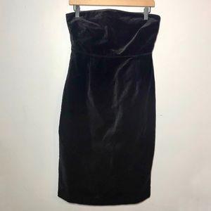 NWT BITTEN by SJP Strapless Velour Dress